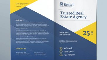 Apartment rental bi-fold brochure template