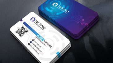 Artificial intelligence business card template