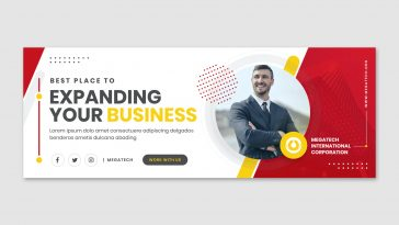 Business Facebook cover template PSD