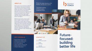 Business coach tri-fold brochure design