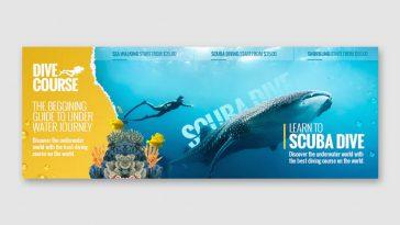 Dive course Facebook cover template