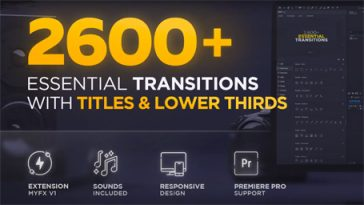 Essential Transitions With Titles & Lower Thirds