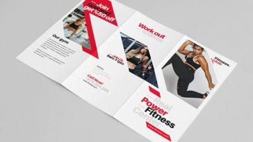 Fitness tri-fold brochure template