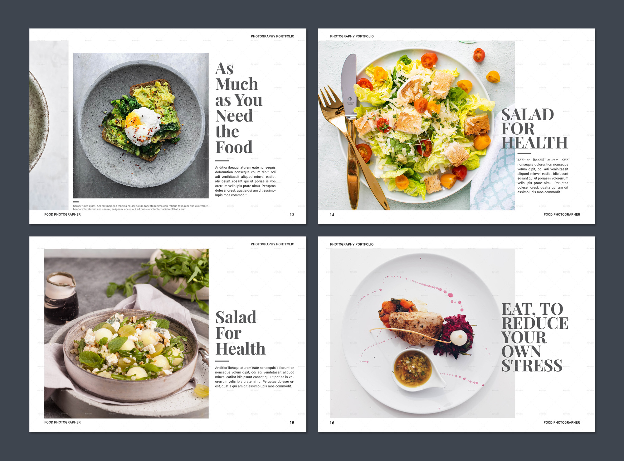 Food Photography Brochure Template