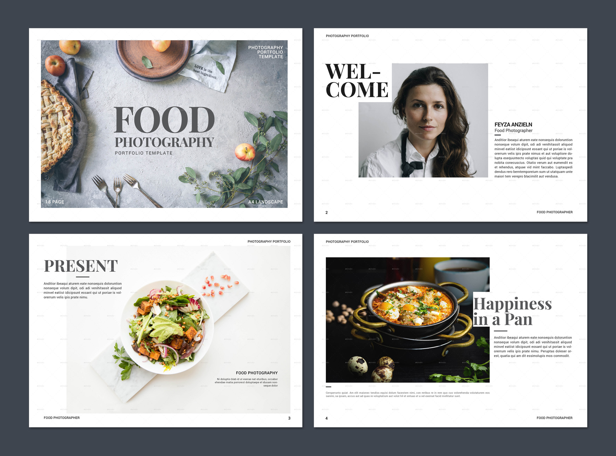 Food Photography Portfolio Brochure Design