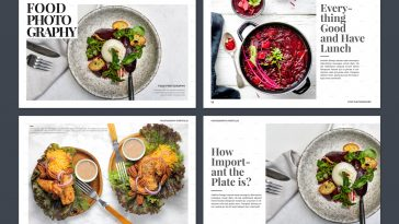 Food Photography Portfolio Brochure Template