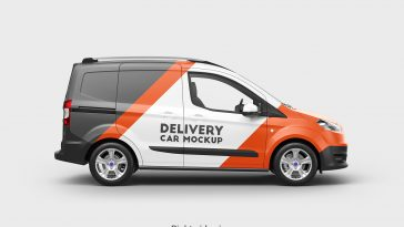 Ford transit courier mockup