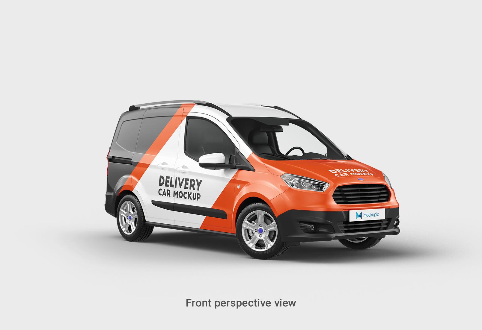 Ford transit courier mockups