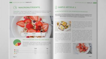 Nutrition & Diet Brochure Template