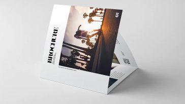Photography portfolio tri-fold brochure template