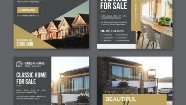 Real estate Instagram post templates