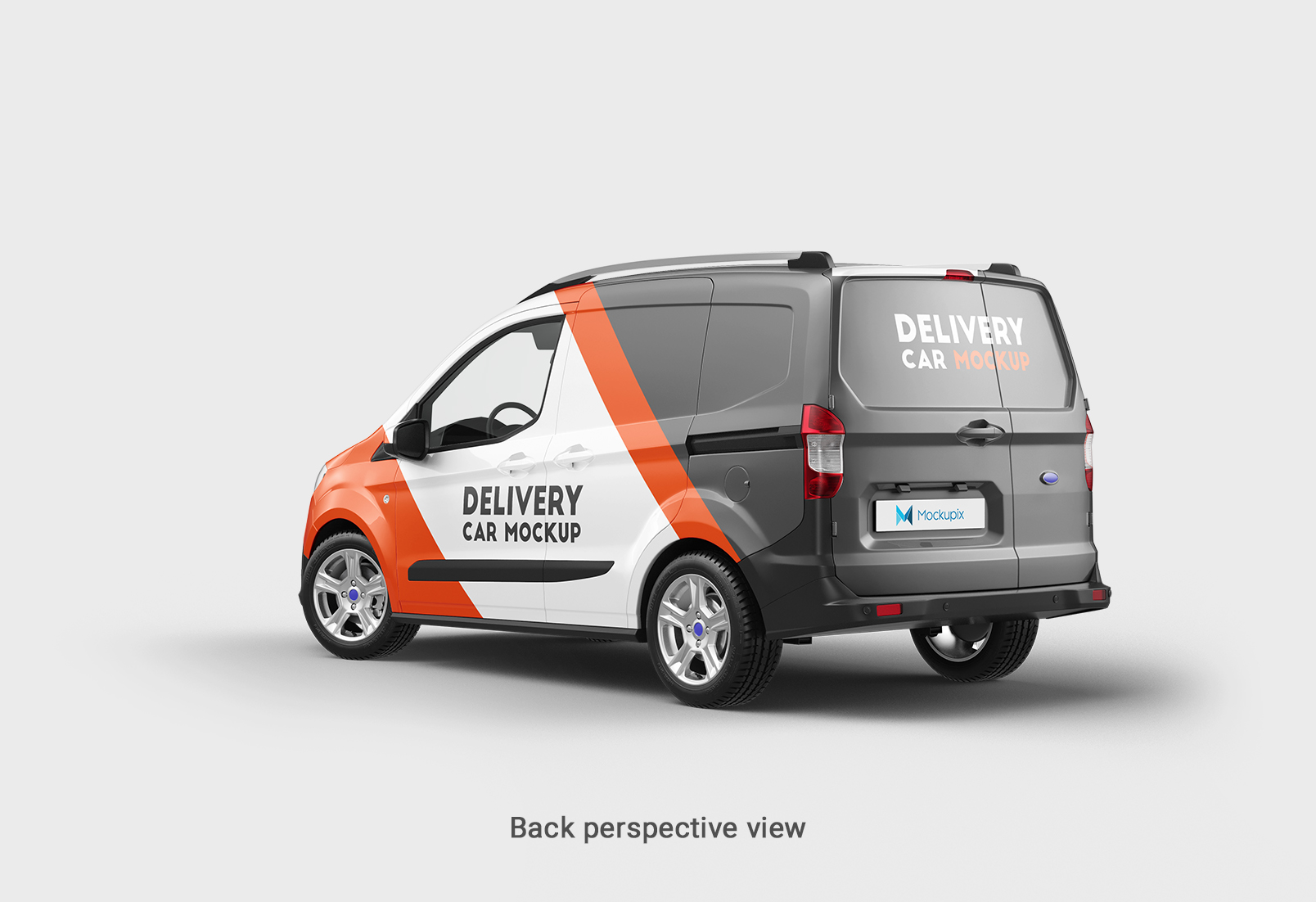 Realistic Ford transit courier delivery mockup