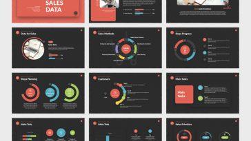 Sales data Keynote presentation template