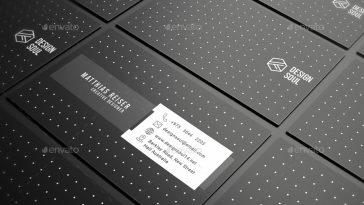 Simple black & white business card design