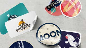 Stickers Mockups