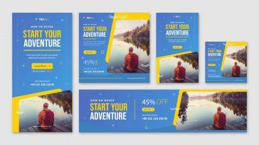 Travel web banner templates