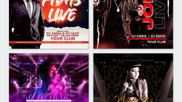 DJ Party Social Media Templates