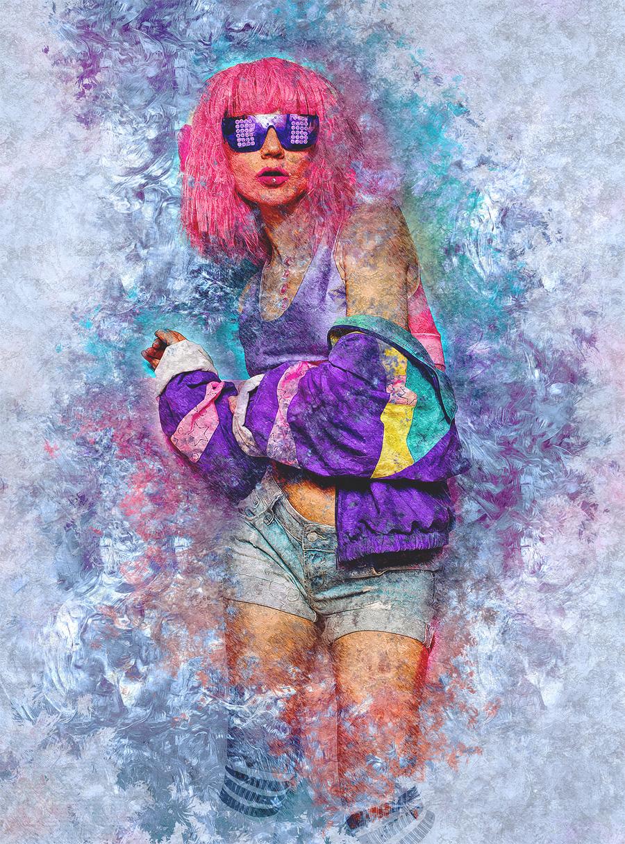 Grunge Ice Photoshop Action
