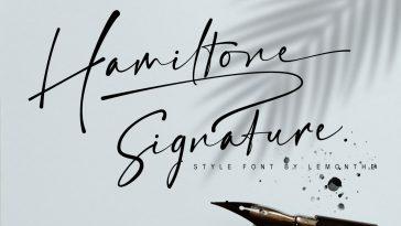 Hamiltone - Signature Font