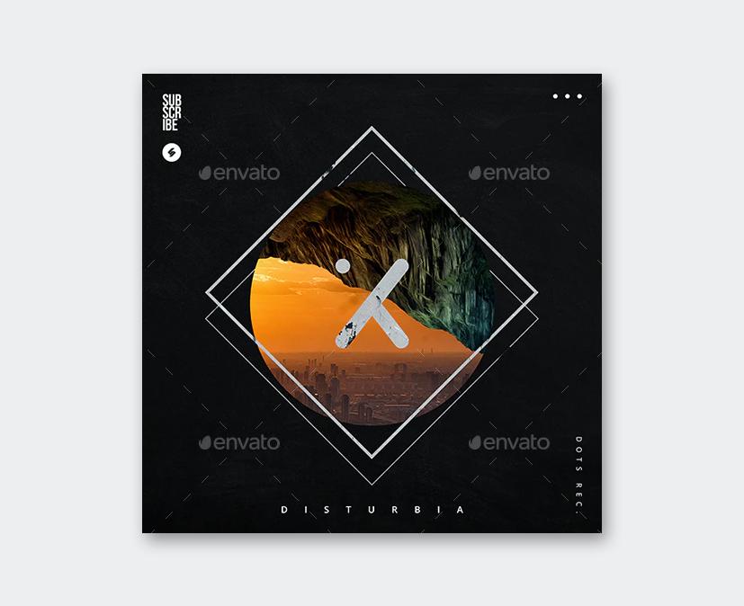 Disturbia Music Album Cover Template