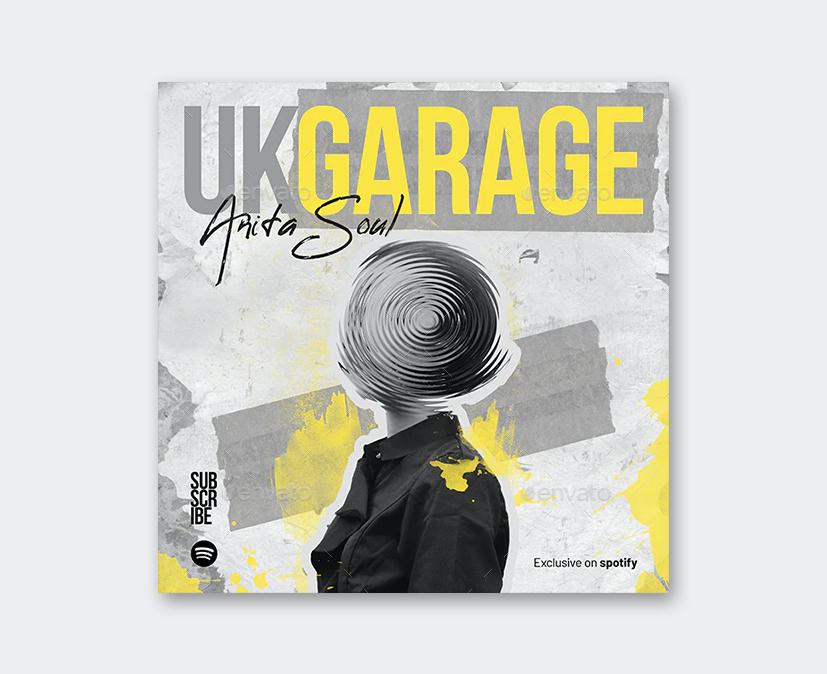 Garage House Music Album Cover PSD