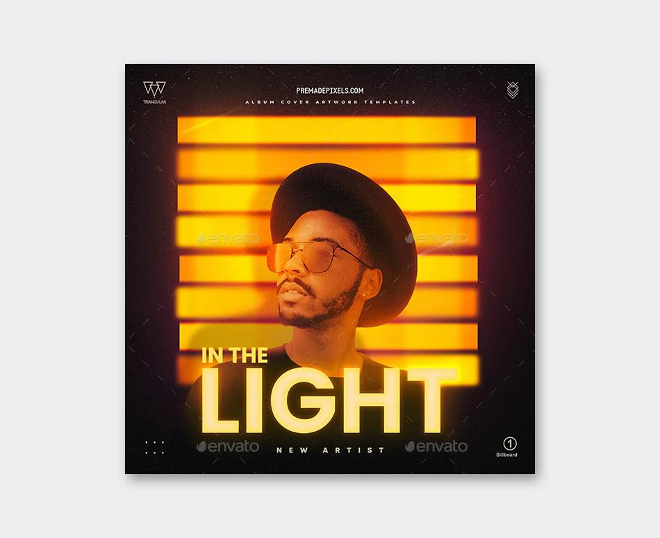 Light Album Cover Template
