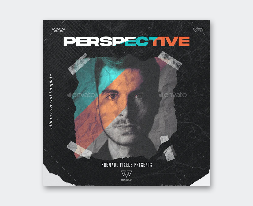 Perspective Album Cover Template PSD