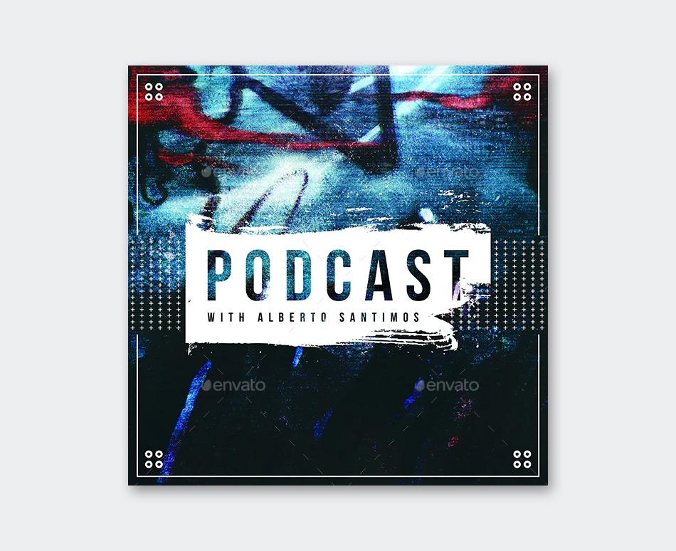 Podcast Album Cover Template
