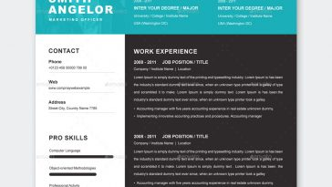 Resume Design Template Word