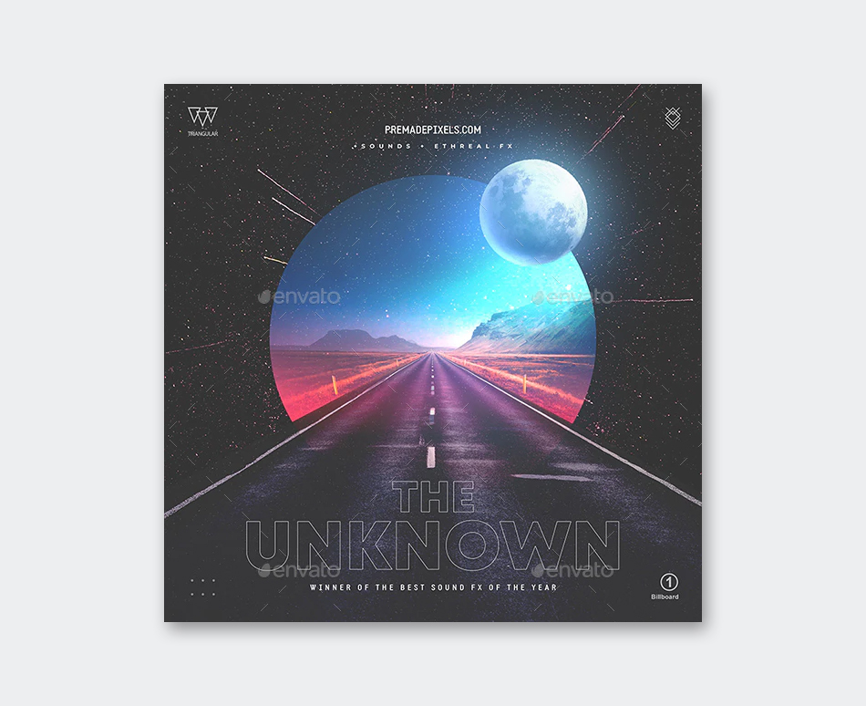 The Unknown Album Cover Template PSD