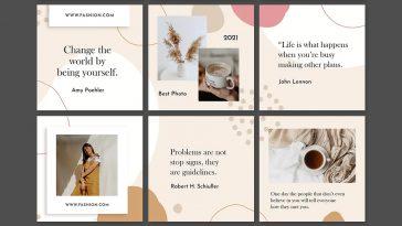Fashion Instagram Puzzle Template