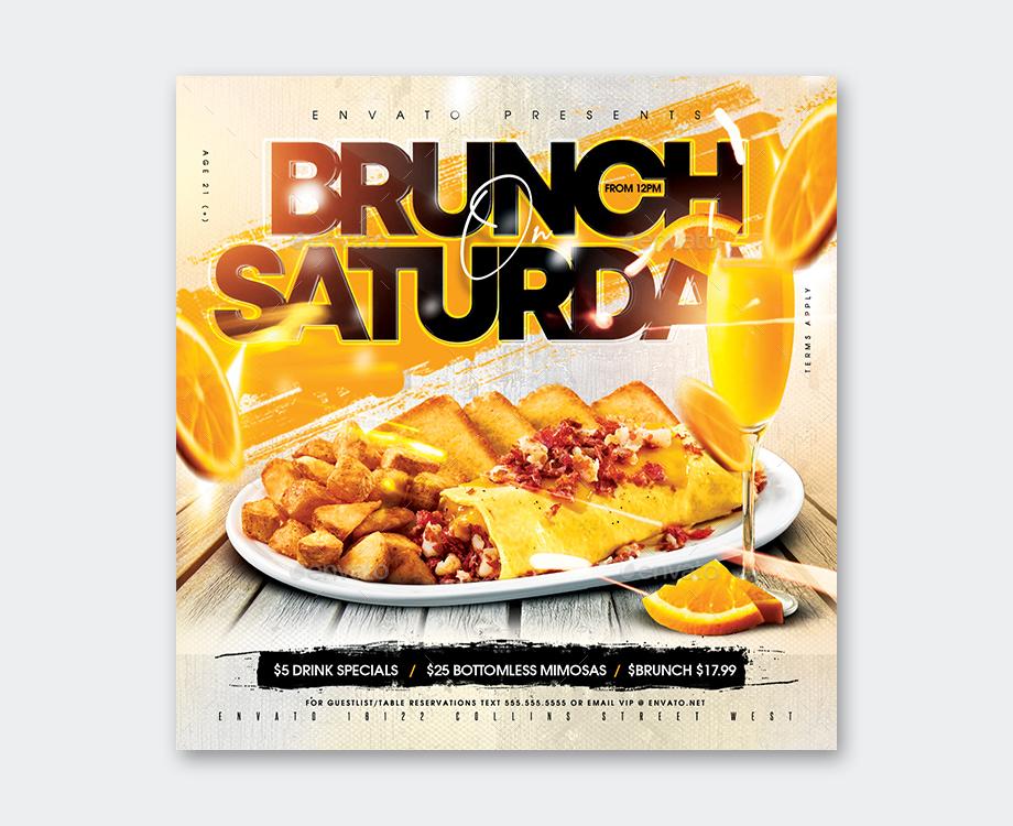 Saturday Brunch Flyer Template