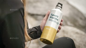 Sport Bottle Mockup Outdoor Scenes