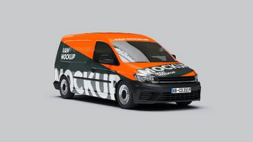 Volkswagen Caddy Van Mockup