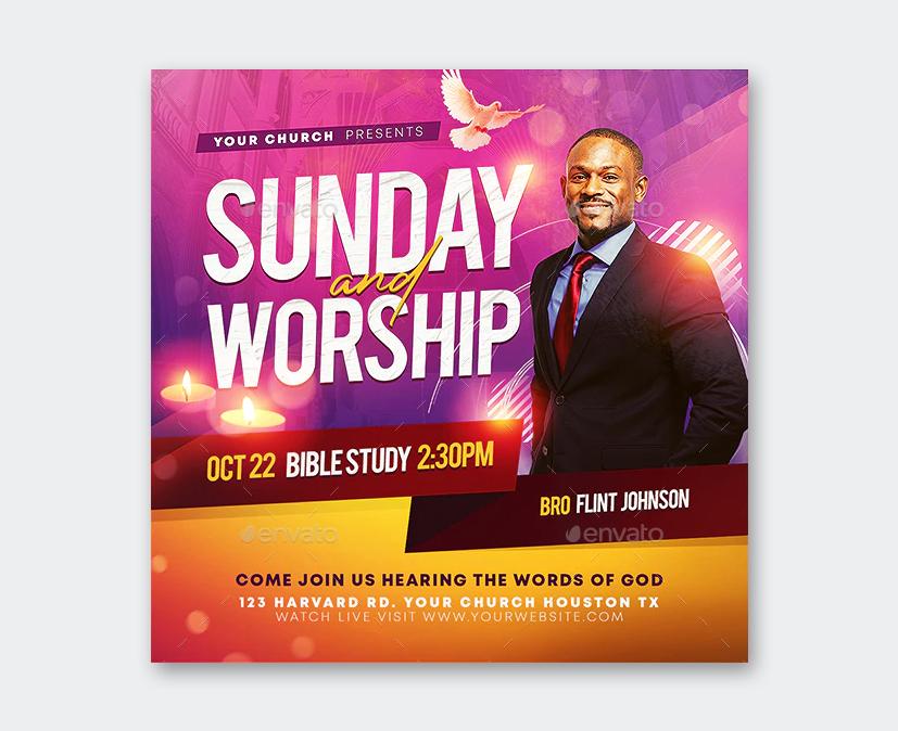 Church Flyer Template PSD