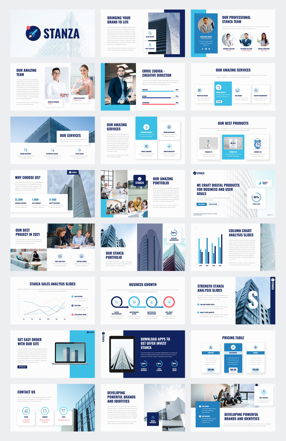 Small Business & Startup Powerpoint Template
