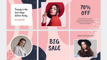 Abstract Fashion Instagram Puzzle Template