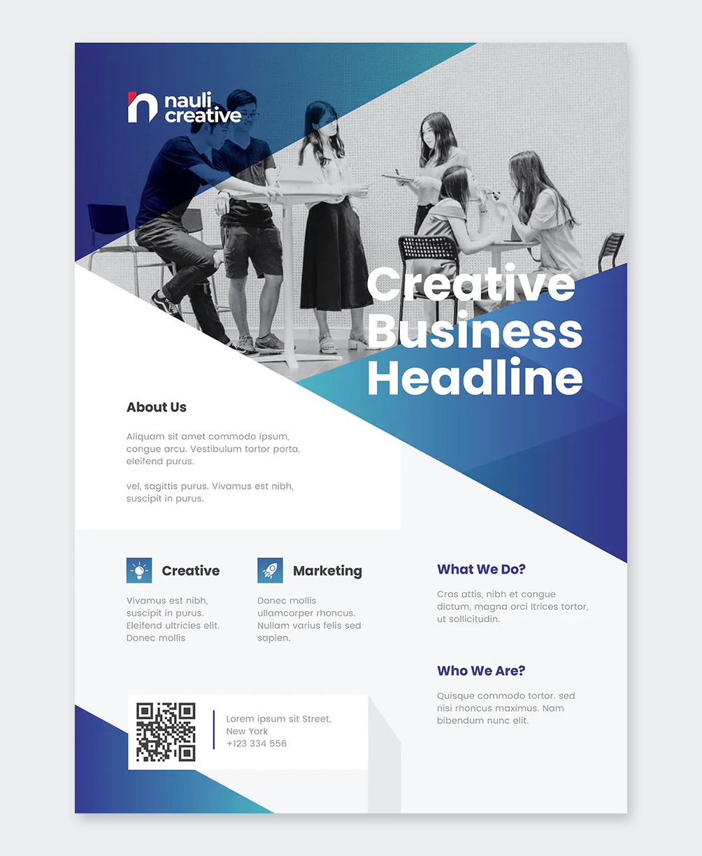 Clean Business Flyer Template MS Word