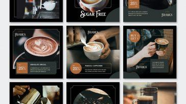 Dark Coffee Instagram Post Templates
