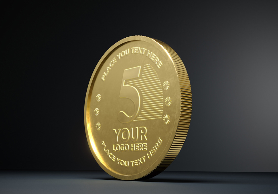 Gold Coin Mock-ups