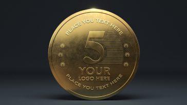 Gold Coin Mockup