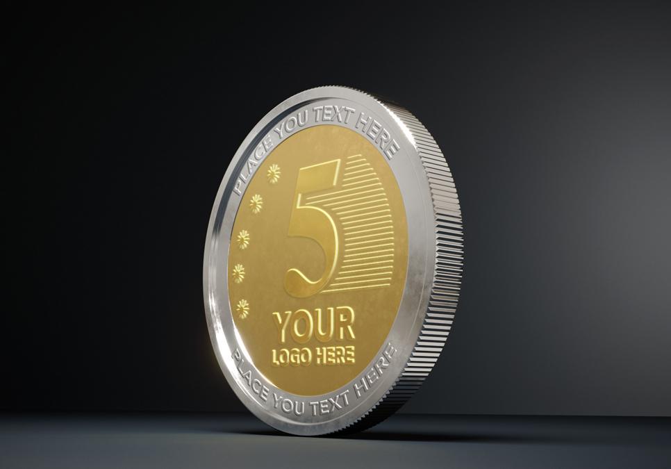 Coin Mockups PSD