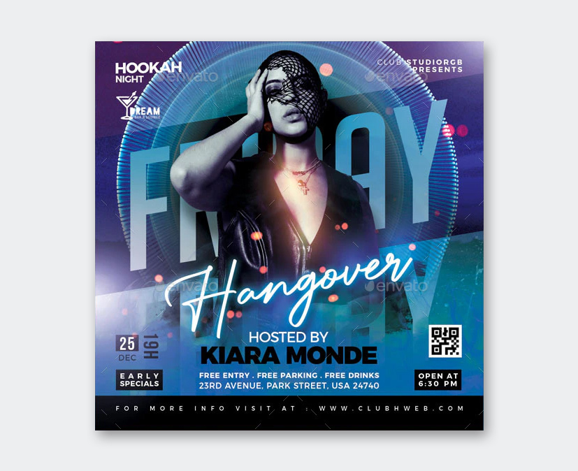 Hangover Party Flyer Template PSD