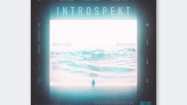 Introspekt Album Cover Template PSD