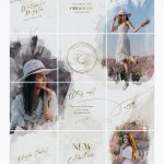 Watercolor Instagram Puzzle Template