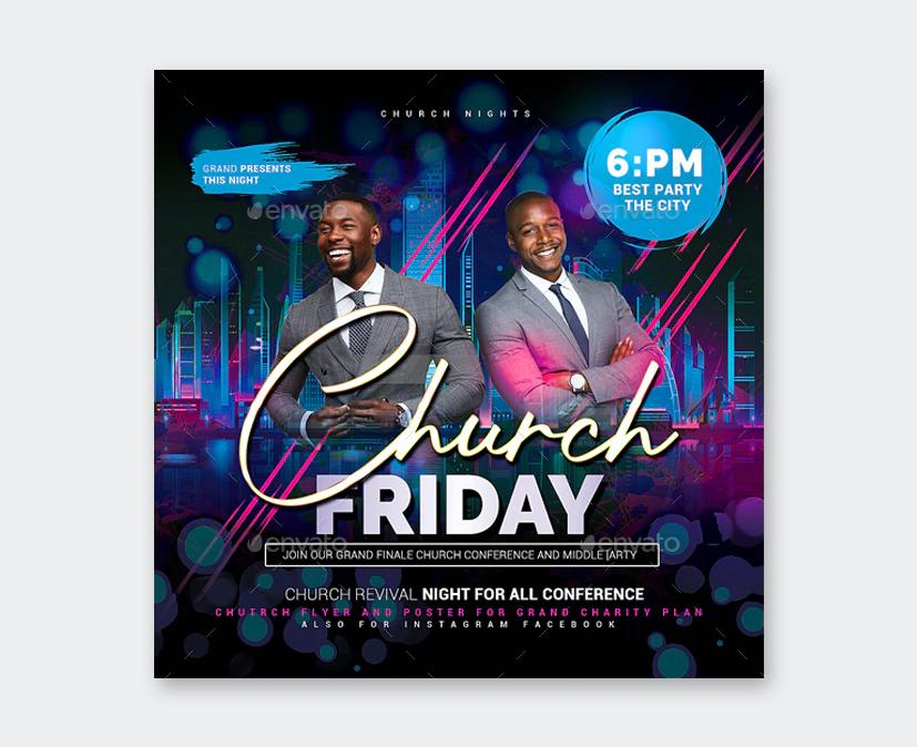 Clean Church Flyer Template