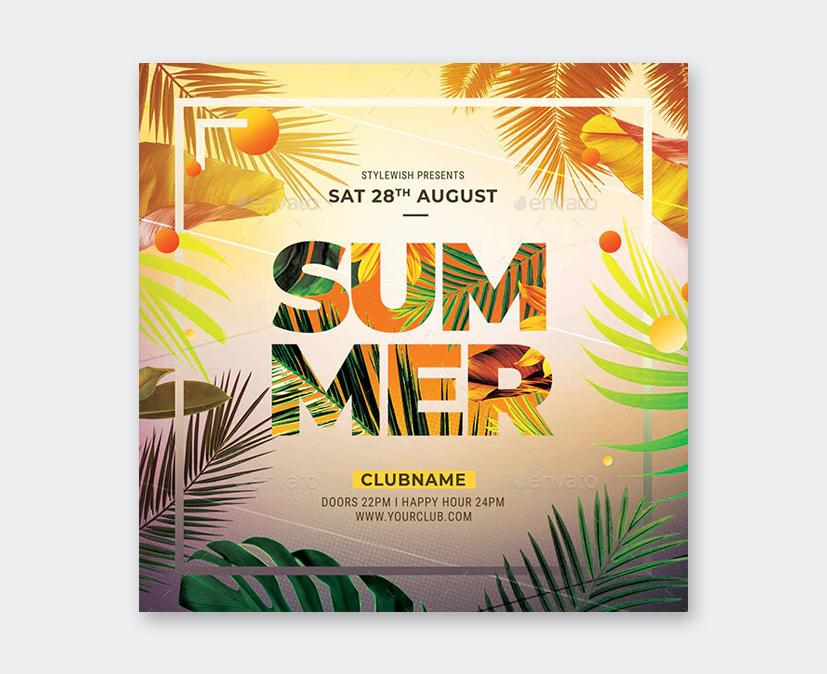 Club Summer Party Flyer Design