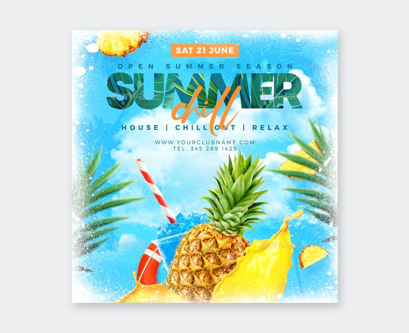 Cool Summer Flyer Template