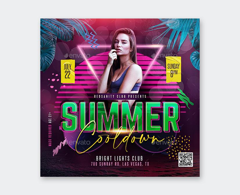Creative Summer Cooldown Flyer Template