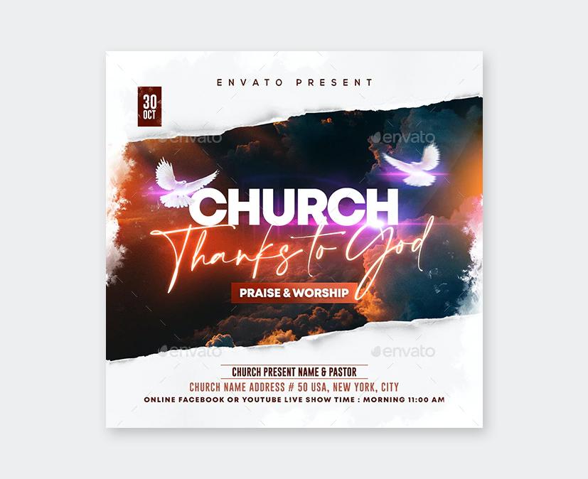 Design Church Flyer PSD